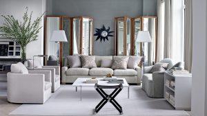 Interior design with beautiful gray floors
