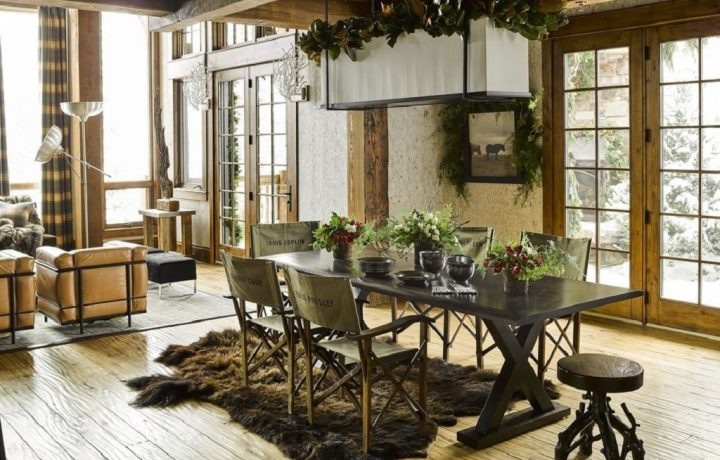 Rustic house interior design and decoration