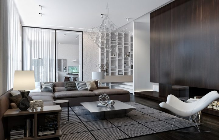 Interior decoration of a modern house