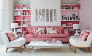 pink color in interior